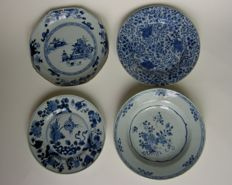 Four porcelain plates - China - eighteenth century