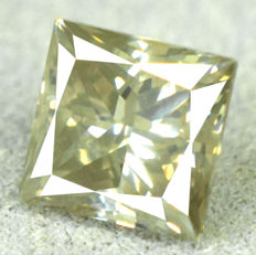 Diamond - 1.02 ct, Natural Fancy Greenish Yellow SI2