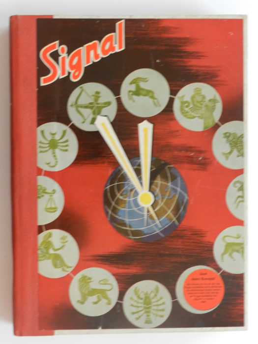 Signal; 16 bound issues of Signal - 1944 / 1945 - Written in German