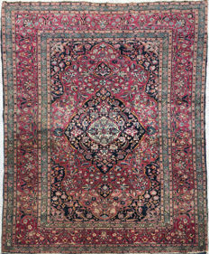Oriental Persian rug: Authentic Isfahan - IRAN 200 x 130 cm.