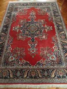 Hand-knotted Indo Tabriz rug, approx. 289 cm x 203 cm