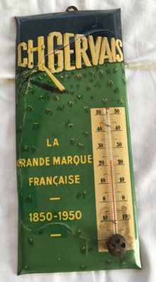 Glacoid advertising thermometer - GERVAIS - circa 1950 (by Coulon)