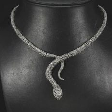 Unique Natural Champagne Marcasite, Ruby 925 Sterling Silver necklace