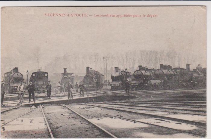 Very good lot of 42 old postcards of trams, trains and stations