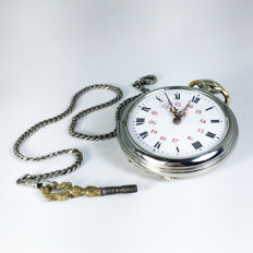 Collectibles French Made Beaucourt Key Wind Open Face Pocket Watch