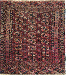 Handmade Oriental rug: Authentic antique Tekke Boukhara, 145 x 118 cm, circa 1880!!!