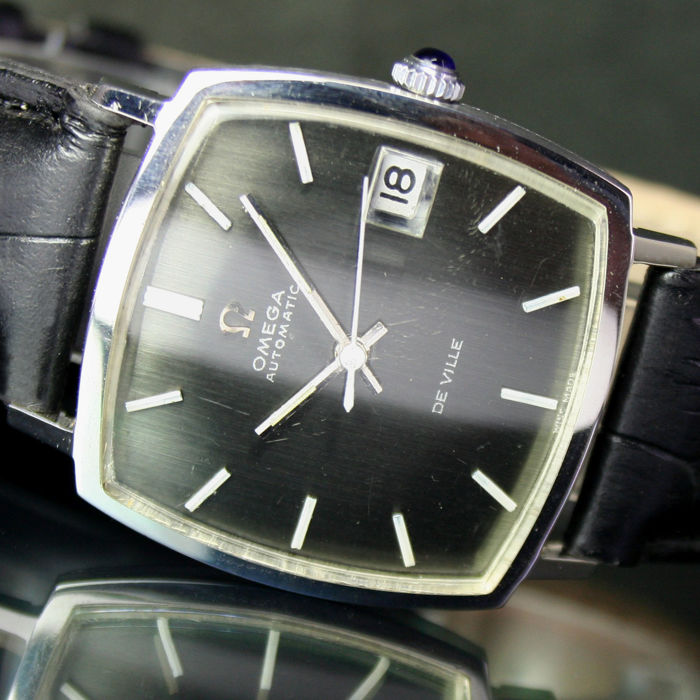Omega DeVille Automatic Date Vintage Steel Mens Watch