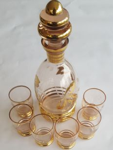 Gold Gilt  Liqeuer Set