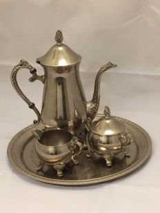 Four piece SBS Silver plated Coffee set