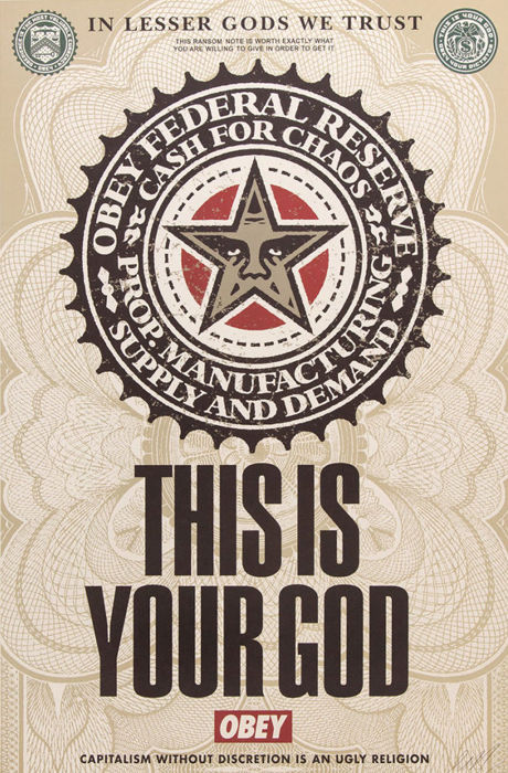 Shepard Fairey (OBEY) - This is Your God + Bonus