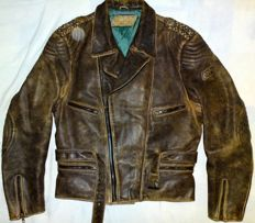 Polo Riders Collection - Old School Biker German Motorcycle Leather Jacket from 1966