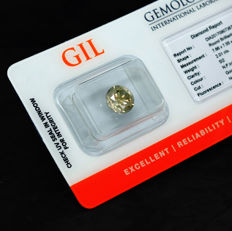 Diamond – 2.01 ct Natural Fancy Intense Yellowish Gray