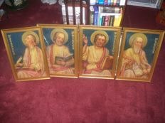 Portraits of the four evangelists Oil on canvas