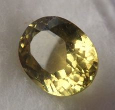 Yellow apatite, 5.39 ct