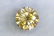 Diamond of 0.78 ct – Fancy INTENSE Greenish Yellow – No Reserve Price