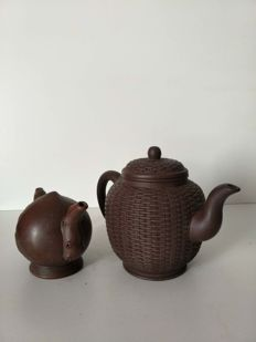 Two modern Yixing teapots - China - end of 20th century