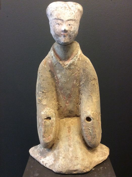 Pottery Kneeling Court Lady - H. 54 cm