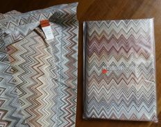 Missoni - 2 x pillow cases / cushion covers in 100% cotton - Made in Italy - Autumn 2017 - Brand new