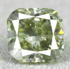 Diamond -  1.23 ct, VS2 Natural Fancy Greyish Yellow