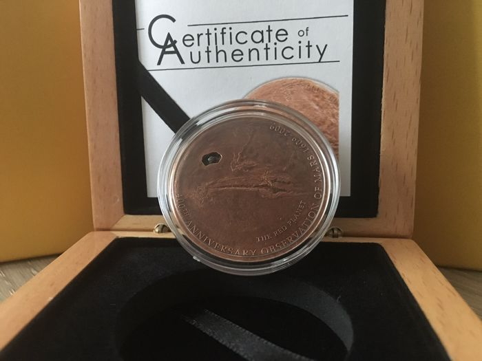 Cook Islands - 5 Dollars 2009 'Martian Meteorite' copper plated - 25 g silver