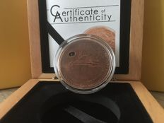 Cook Islands - 5 Dollars 2009 'Martian Meteorite' copper plated - silver
