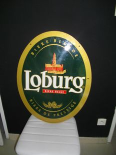 LOBURG advertising plate, double face