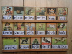 Large size reading shelf Aap Noot Mies, illustrations C. Jetses