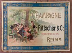 Advertising plate in metal sheet RITTSCHER & Cie 43x32cm