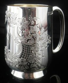 Silver Tankard/Christening Mug - Josiah Williams & Co - London - 1901