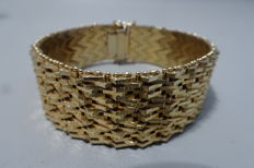 18 kt gold plated bracelet from the 1950s/60s