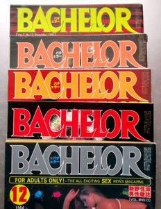 Magazines: Lot with 5 issues of Bachelor Japan - 1982/1983