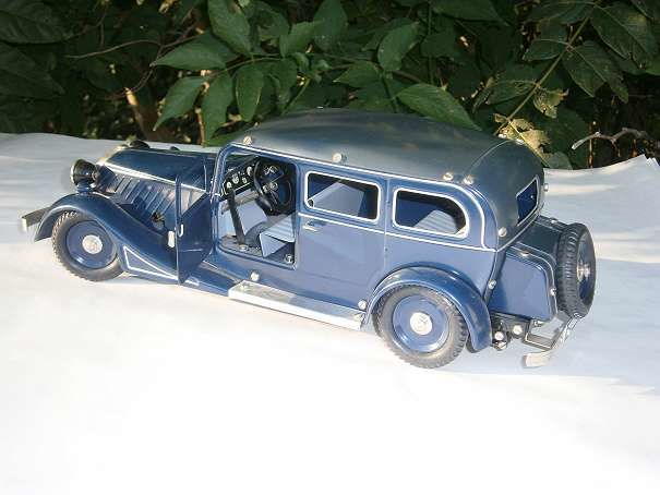 Märklin, Germany - length 37 cm - tin Pullmann limousine Insider model 1998 clockwork powered, 1990s