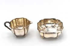 A silver cream set - Germany - first half of the 20th century