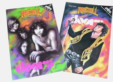 The Doors > Lot of 4 Megarare  Comic Books >  Rock`n`Roll Pt I&II / Jim (Hc) / Legenden des R´n`R
