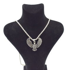 925 Italian sterling silver chain with Eagle pendant   - 65  cm