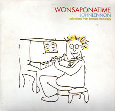 John Lennon - 2LP Wonsaponatime (Selections from Lennon Anthology). Bonus DVD Lennon Naked (Five turbulent years in the life of an icon)