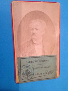 Colonel A. Gerard  - His Carte de Service and his medallion Exposition Universelle of 1878 in Paris - 1878