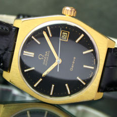 Omega Geneve Automatic Date Steel Gold Mens Vintage Watch
