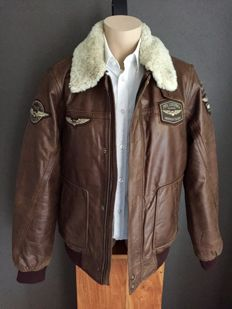 Pall Mall PME Legend - Hudson bomber/leather pilot jacket