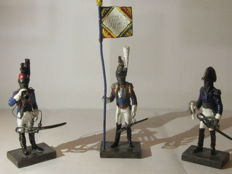 Napoleonic miniature soldiers in Silver 925
