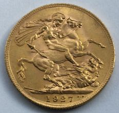 South Africa - Sovereign 1927 SA (Pretoria) - George V - gold
