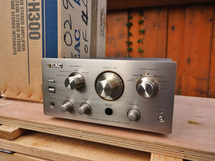 TEAC A-H300 stereo amplifier with strikingly compact design