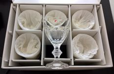 6 beautiful handmade crystal water glasses. Collevilca, model Berlin, NEW, with original box.