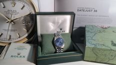 Rolex - Datejust Blue Dial - Steel and 18 kt White Gold - Ref. 16 - Men's - 1990-1999