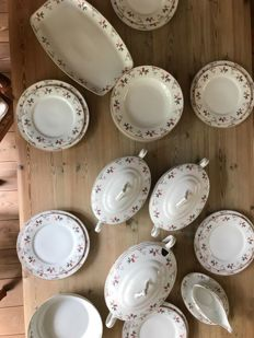6 people porcelain tableware set by H & C Schlaggenwald