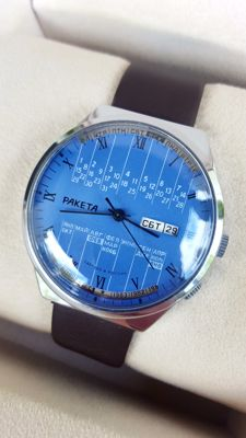 Soviet Raketa perpetual calendar - men's wristwatch 1980's in mint condition