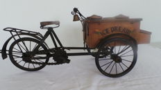 Old nostalgic ice cream cart (freight bicycle)