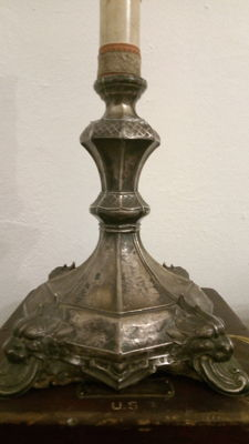 Silver lamp - 19th century, Austria - in use from 1867 to 1882