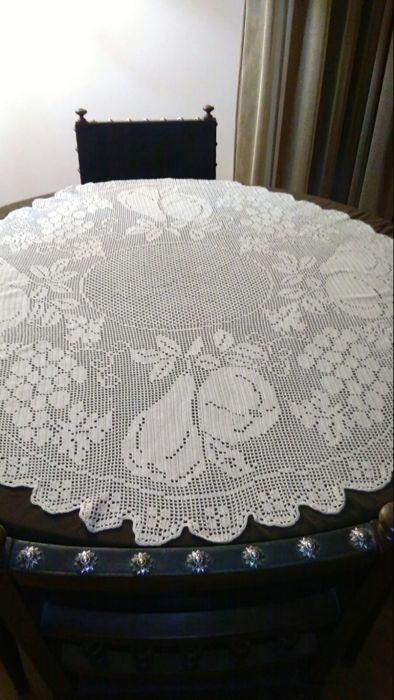 Handmade table cover - 1940s/50s