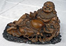 Wooden sculpture of 'Putaï' or Ho-tai – China – 19th century